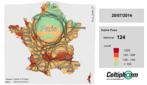 Progression des poux en France