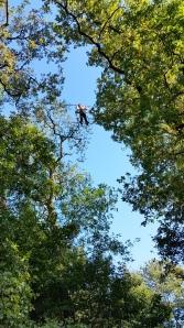 A plus de 12 mètres du sol, un enfant de 6 an, taille 1,31m !