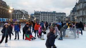 La patinoire de l'Hôtel de Ville de Paris