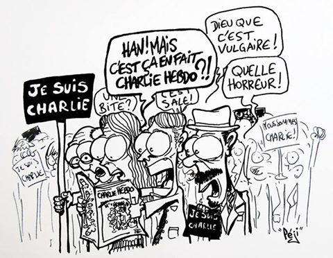 J'ai trouvé amusant de voir des personnes qui disaient n'avoir jamais lu Charlie Hebdo, fières d'annoncer qu'elles s'étaient abonnées. C'est bien, mais je crains que certain-es n'apprécient pas leur humour. c'est vrai qu'ils sont parfois lourds...