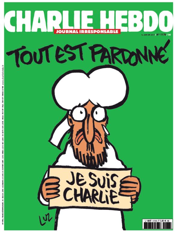 La Une de Charlie Hebdo, le 14 janvier 2015
