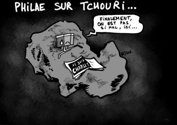 On est tellement triste en France aujourd'hui, qu'on aurait presque envie de partir à l'autre bout de l'univers. Même si dimanche 1 janvier 2015, c'était bon d'être si nombreux.
